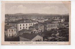 REF 141  : CPA SALONIQUE Rue Amiral Coundouriotis Avant Le Feu 1918 - Cartes Postales