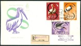 1959 4 Settembre Somalia AFIS Fauna Uccelli Birds Oiseaux 2 FDC Venezia Viaggiate -Nu183 - Somalia (AFIS)