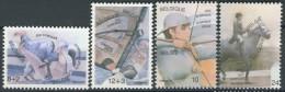 BL1-75 BELGIUM 1984 YV 2118-2121 SPORT, OLYMPICS LOS ANGELES, ARCHERY, JUDO, VOILE. MNH, POSTFRIS, NEUF**. - Zomer 1984: Los Angeles