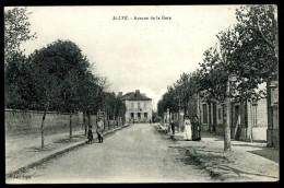 Cpa Du 10  St  Lyé  Avenue De La Gare   GUI8 - France