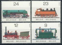 BL1-79 BELGIUM 1985 YV 2170-2174 PUBLIC TRANSPORT, STEAM TRAINS, CHEMIN DE FER, EISENBAHN, ZUG. MNH, POSTFRIS, NEUF**. - Trains