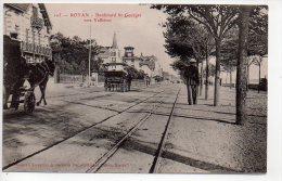 REF 146 : CPA 17 ROYAN Boulevard Saint Georges Vers Vallières Attelage - Royan