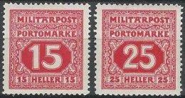 BOSNIE-HERZEGOVINE - 2 Taxes Neuves De 1916 - Bosnie-Herzegovine