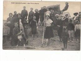 80 FORT MAHON PLAGE  Gros Plan Animé  NOS FUTURS MARINS  Sur La Plage CHIEN En 1910 - Fort Mahon
