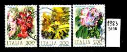 -ITALIA - REPUBBLICA - Serie Completa - Year 1983 - Fiori D'Italia - Viaggiati - Traveled -reiste - 6. 1946-.. Repubblica