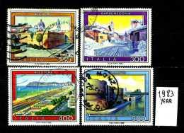 -ITALIA - REPUBBLICA - Serie Completa - Year 1983 - Turistica -10° Serie - Viaggiati - Traveled -reiste - 6. 1946-.. Repubblica