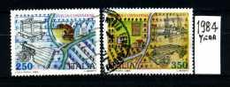 -ITALIA - REPUBBLICA - Serie Completa - Year 1984 - Civiltà Contadine - Viaggiati - Traveled -reiste - 6. 1946-.. Repubblica