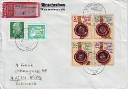 1167f: DDR 1984, Historische Siegel, Portogerechter Rekobrief Nach Österreich - Briefe U. Dokumente