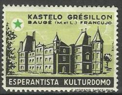 ESPERANTO - Labels  - Cinderellas - France , Kastelo Gresillon - Esperanto