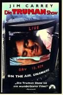 VHS Video Komödie  -  Die Truman Show  -  Mit : Ed Harris, Holland Taylor, Paul Giamatti, Jim Carrey  , Von 1998 - VHS Videokassetten