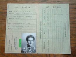 DERKENNE Marie Louise HERMALLE S/ Arg - CARTE D´IDENTITE / PASPOORT - Oupeye 22/04/1977 ( Details Zie Foto ) ! - Non Classés