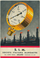 S.I.M. SOCIETA' ITALIANA MANOMETRI - Publicité