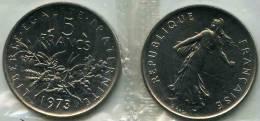 France 5 Francs 1973 FDC Scellé GAD 771 KM 926a.1 - France