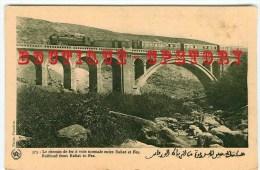 TRAIN & PONT - Train Sur Le Viaduc Entre Rabat Et Fez - Railroad Viaduct - Bridge Railway - Chemin De Fer - Dos Scanné - Ouvrages D'Art