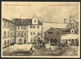 KARLOVY VARY Karlsbad Ceskoslovensko La Poste En 1850 Zum Chinesen Minerva Prague 1962 - Tchéquie