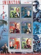 DELUXE IMPERF GUINEA Stan Winston, Jurassic Park DINOSAURS CINEMA S/S MNH C8 - Famous People
