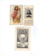 Images Religieuses , Image Pieuse , 2 Scans , LOT DE 3 IMAGES PIEUSES - Images Religieuses