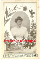 Grand CDV (CAB)-photo Ancienne Mise En Scène-buste De Femme Joli Corsage Dentelle-chignon-photo Octave NANCY - Anonyme Personen