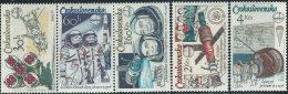Cecoslovacchia 1979 Nuovo** - Mi.2488/92  Yv.2317/21 - Nuovi