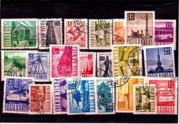 V] 22 Timbres Stamps Roumanie Romania Série Courante Definitive Oblitéré Cancelled Gommé Gummed - Timbres
