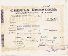 Espagne Chèque De Banque - TTB 1929 - Espagne