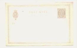 Entier Postal Neuf  Danmark  Unused Perfect (scan) - 1864-04 (Christian IX)