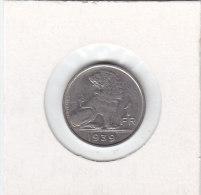 1 FRANC Nickel Léopold III 1939 FR/FL - 1934-1945: Leopold III