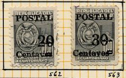 Equateur 1953 Y&T 562/63 ° - Equateur