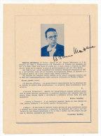 PALERMO PIANISTA BRUNO MEZZENA AUTOGRAFATO 1950 - Programmi