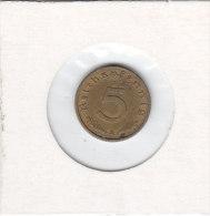 5 REICHSPFENNIG Alu Bronze 1937 A - 5 Reichspfennig