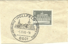 BRD Briefstuck Sonderstempel Hollfeld Eingangstorder Frank Schweiz  5/8/1965 - [7] West-Duitsland