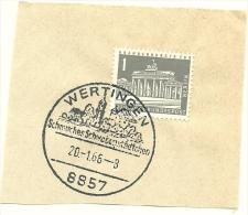 BRD Briefstuck Sonderstempel Wertingen Schmuches Schabenstadchen 20/1/1966 - [7] West-Duitsland
