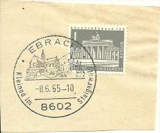 BRD Briefstuck SonderstempelEbrach Kleinod Im Steigerwald 8602   8/6/1965 - Marcofilie - EMA (Printmachine)