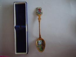 LUXEMBOURG ECHTERNACH Vintage Souvenir Armoiries Lepel Petite Cuillère Little Spoon Email (ref 8) - Lepels
