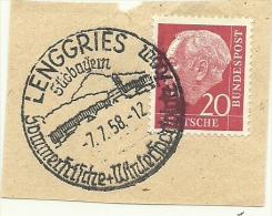 BRD Briefstuck Sonderstempel Lenggries Sudbayern Sommerhische + Winter 7/7/1958 - [7] West-Duitsland