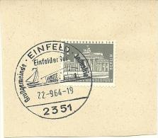 BRD Briefstuck Sonderstempel Einfeld 2351 Grossegemeinde Industrie Einfeldersee  22-9-1964  Sailingship - Marcofilie - EMA (Printmachine)