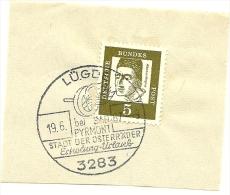 BRD Briefstuck Sonderstempel  Lugd 3283 Bei Pyrmont Stadt Der Osterrader Erholung Urlaub 19/6/1967 - Marcofilie - EMA (Printmachine)