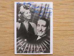 CHARLIE WOOD & Partner Autographe sur Photo Photographie Autograph Picture Vintage Artist