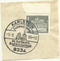 BRD Briefstuck Sonderstempel Karlstein 8234 Sommerfrisxhe Im Kurbezirk Bad Reichenhall 1/3/1965 - [7] West-Duitsland