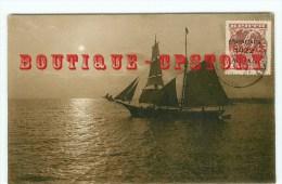 TIMBRE De CRETE SURCHARGE 1922 < Sur Carte Avec Un Voilier Grec - Dos Scanné - Lettres & Documents