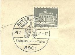 BRD Briefstuck Sonderstempel Burgbernhei 8801 Sommer Winter Kneipsanatorium Wildbad 29/7/1964 - [7] West-Duitsland