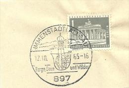 BRD Briefstuck Sonderstempel Immenstadtdallgua 897 Bege Seen Und Walder 12/10/1965 - Marcofilie - EMA (Printmachine)