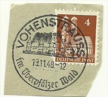 BRD Briefstuck Sonderstempel Vohenstrauss Im Uberpfalzer Wald 19/11/1948 - Marcofilie - EMA (Printmachine)