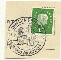 BRD Briefstuck Sonderstempel  Luneburg Sol Und Moorbad 27/2/1961 - [7] West-Duitsland