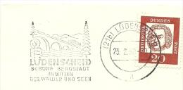 BRD Briefstuck Sonderstempel Lunenscheid Schone Bergstadt In Mitten Der Walder Unf Seen 23/2/1962 Bridge Brucken - [7] West-Duitsland