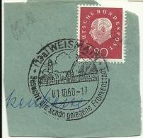 BRD Briefstuck Sonderstempel Weismain Besucht Die Schon Gelegene Frankenstadt 1/10/1960 - Marcofilie - EMA (Printmachine)