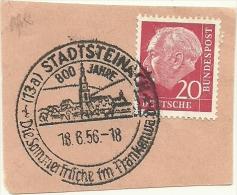 BRD Briefstuck Sonderstempel  Stadtsteinach 800 Jahre Die So0mmerfruche Im Frankenwald 18/6/1956 - [7] West-Duitsland