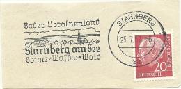 BRD Briefstuck Sonderstempel Starnberg Bayer Voralpenland Starnberg Am See Sonne Wasser Wald 25/7/1967 - [7] West-Duitsland