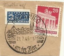 BRD Briefstuck Sonderstempel ... Burg An Der Har 21/7/1949 - [7] West-Duitsland