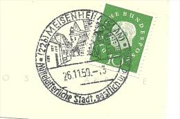 BRD Briefstuck Sonderstempel  Meisenheim Mittelaltirliche Stadt Gastlich  26/11/1959 - Marcofilie - EMA (Printmachine)